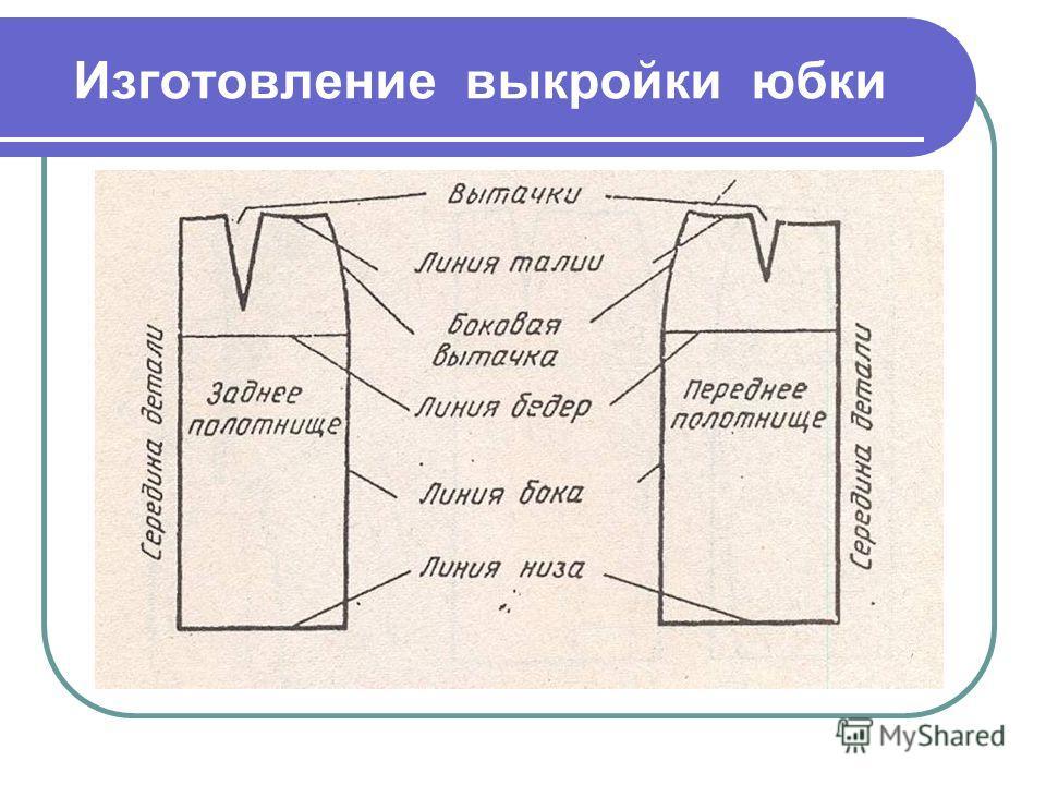 Изготовление выкройки юбки
