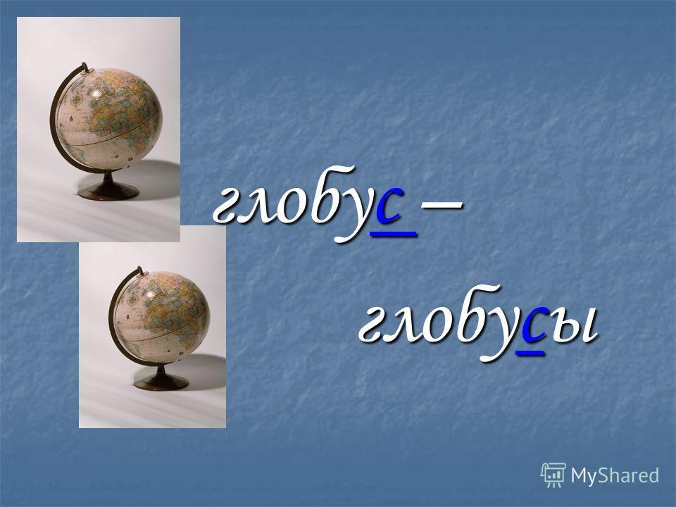 глобус – глобус – глобусы глобусы