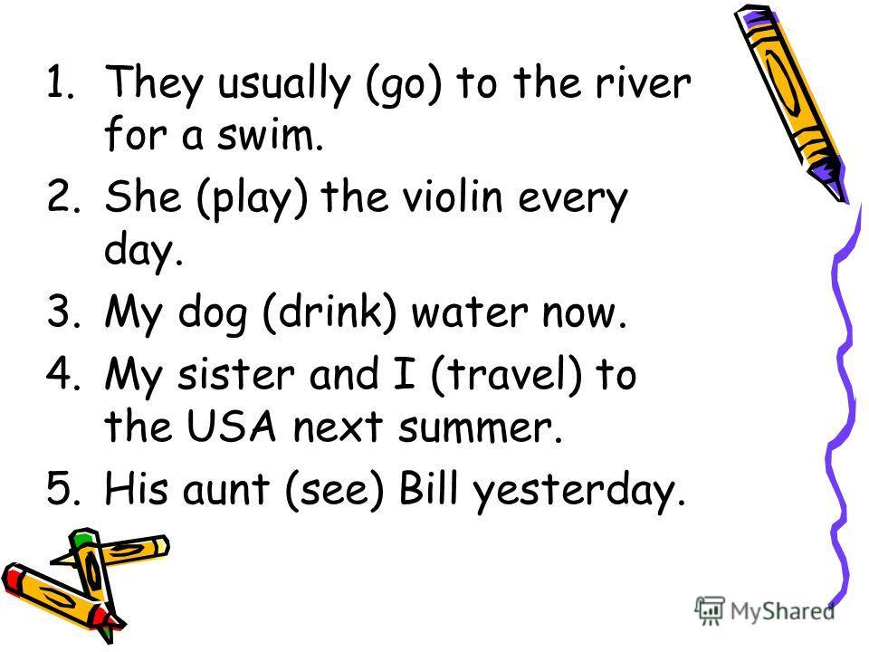 English Tenses English Grammar Exercises