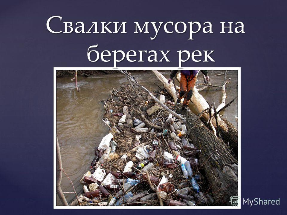 Свалки мусора на берегах рек