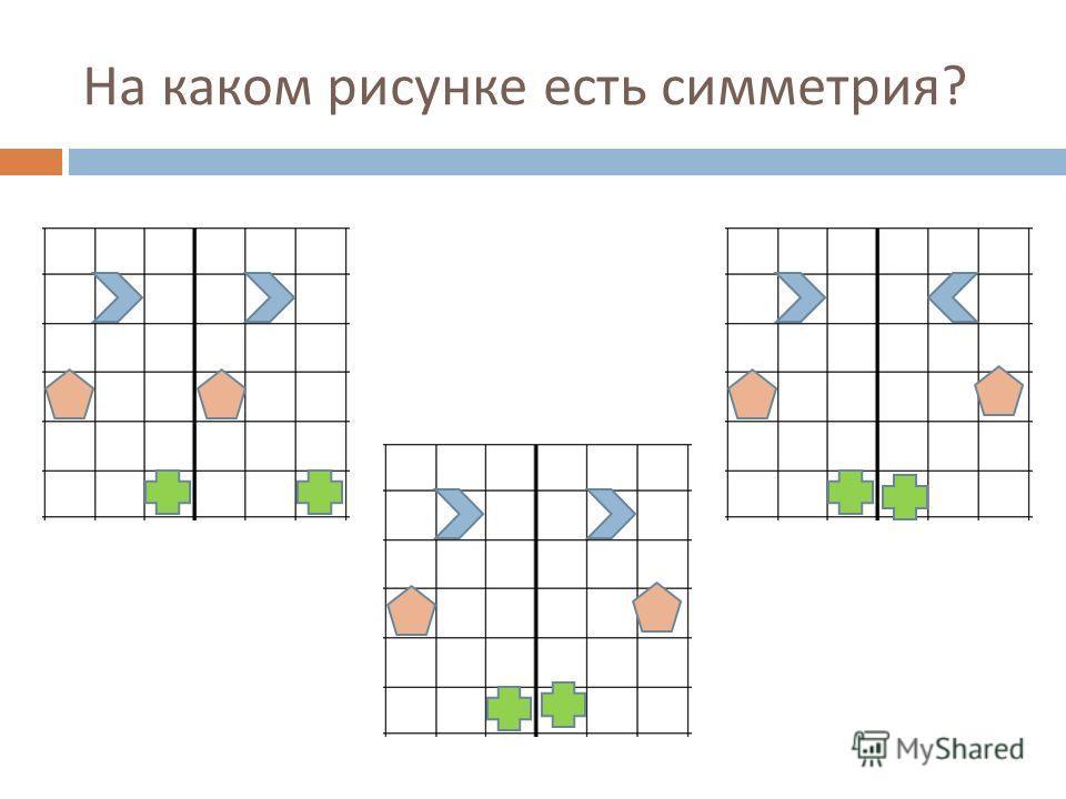 На каком рисунке есть симметрия ?