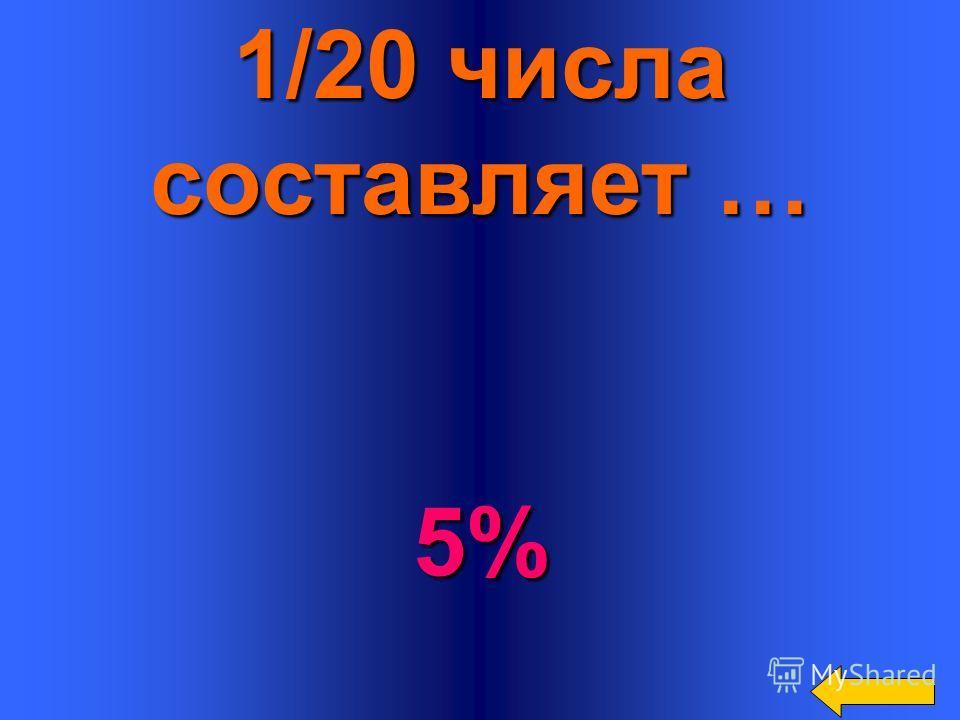 25% от числа составляют … 1/4