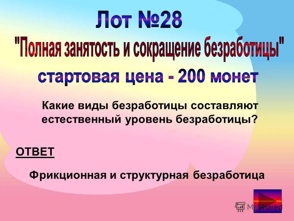 ОТВЕТ К какому типу безработицы относится владелец водных аттракционов на Черном море в декабре? Сезонная безработица