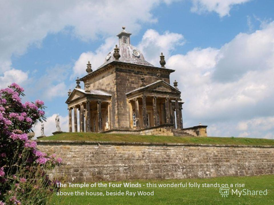 The Temple of the Four Winds - this wonderful folly stands on a rise above the house, beside Ray Wood