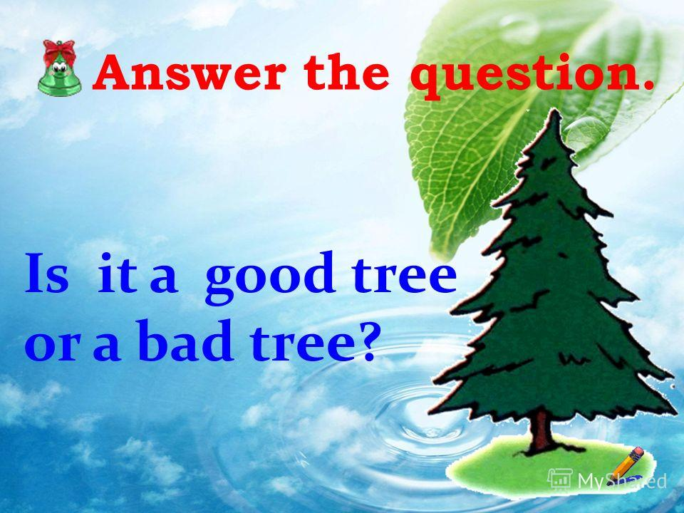 Answer the question. Is it a good tree or a bad tree?
