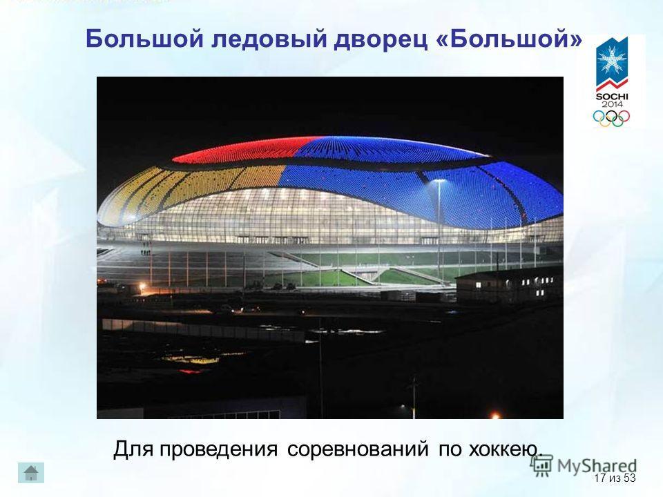 Большой ледовый дворец «Большой» Для проведения соревнований по хоккею. 17 из 53