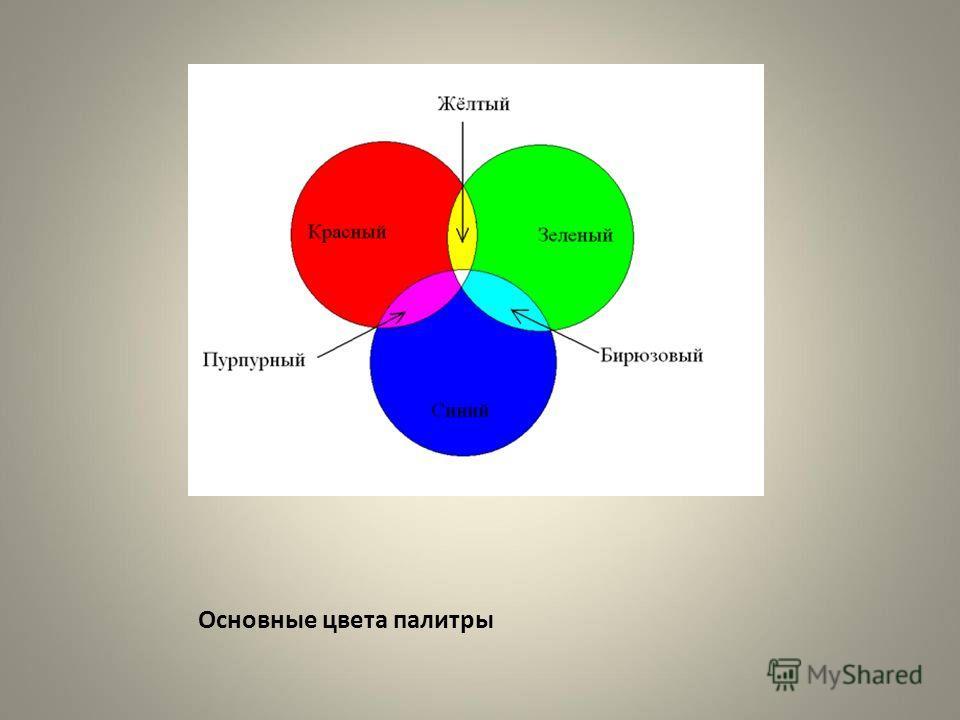 Основные цвета палитры