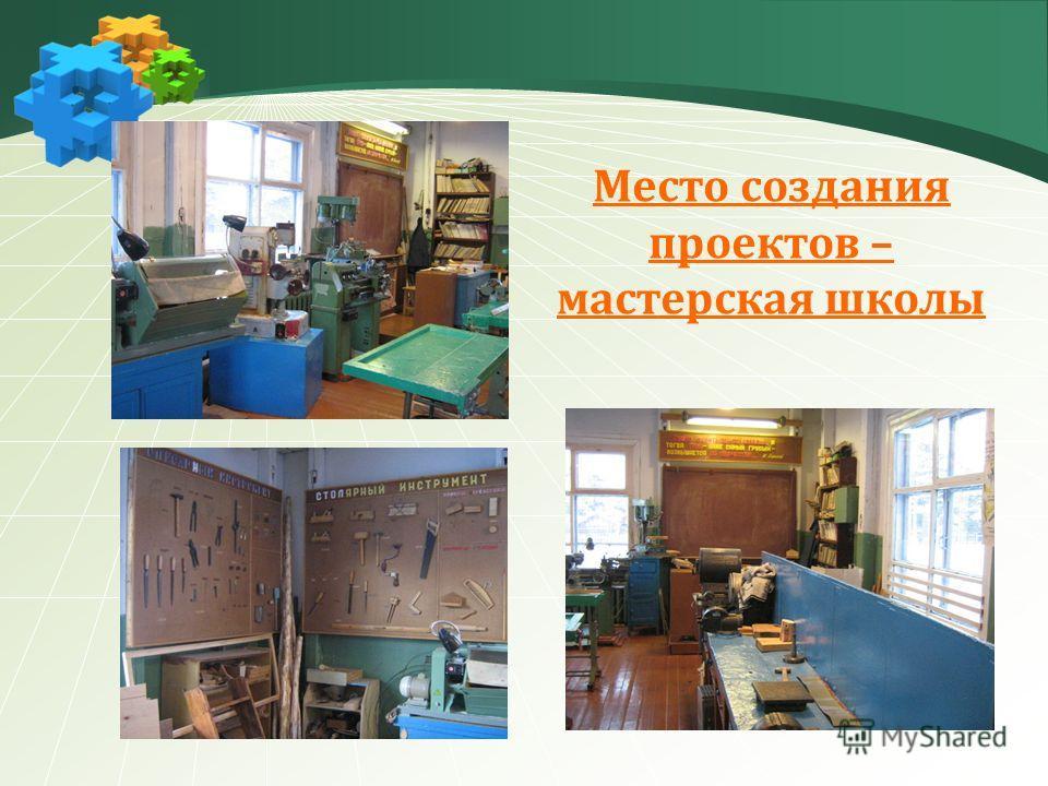 Место создания проектов – мастерская школы