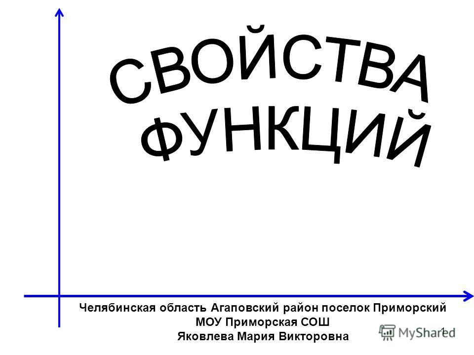 1 Челябинская область Агаповский район поселок Приморский МОУ Приморская СОШ Яковлева Мария Викторовна