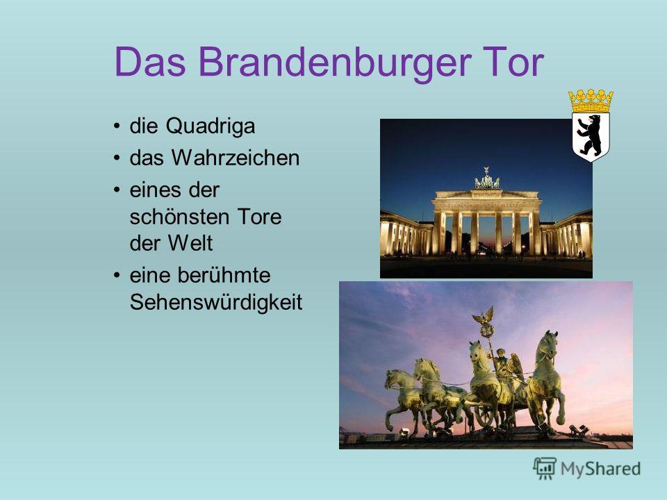 Das Brandenburger Tor die Quadriga das Wahrzeichen eines der schönsten Tore der Welt eine berühmte Sehenswürdigkeit