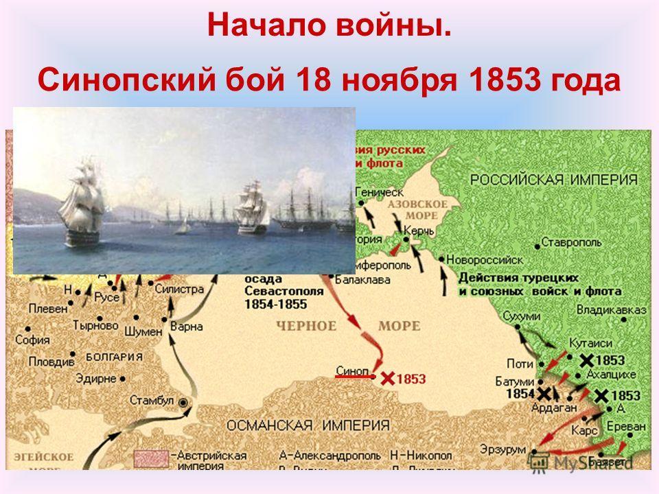 Начало войны. Синопский бой 18 ноября 1853 года