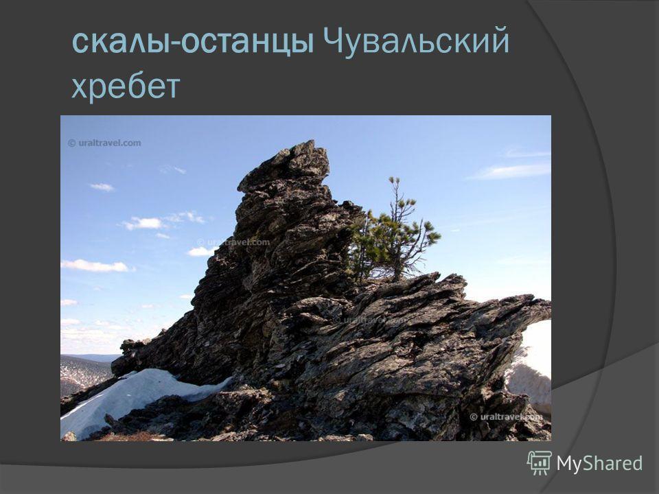 скалы-останцы Чувальский хребет