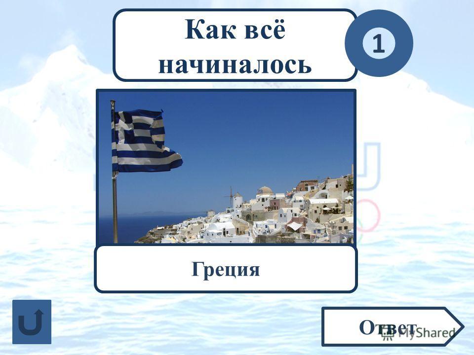 Как всё начиналось 1 Ответ Какое современное государство считается родиной Олимпийских игр? Греция