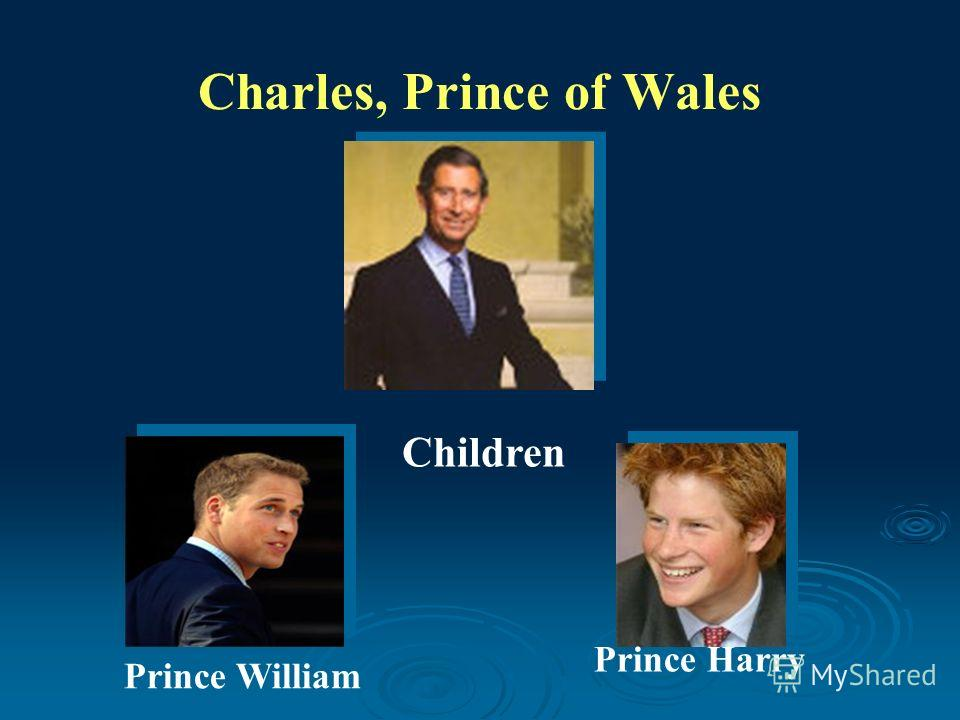 Charles, Prince of Wales Prince William Prince Harry Children