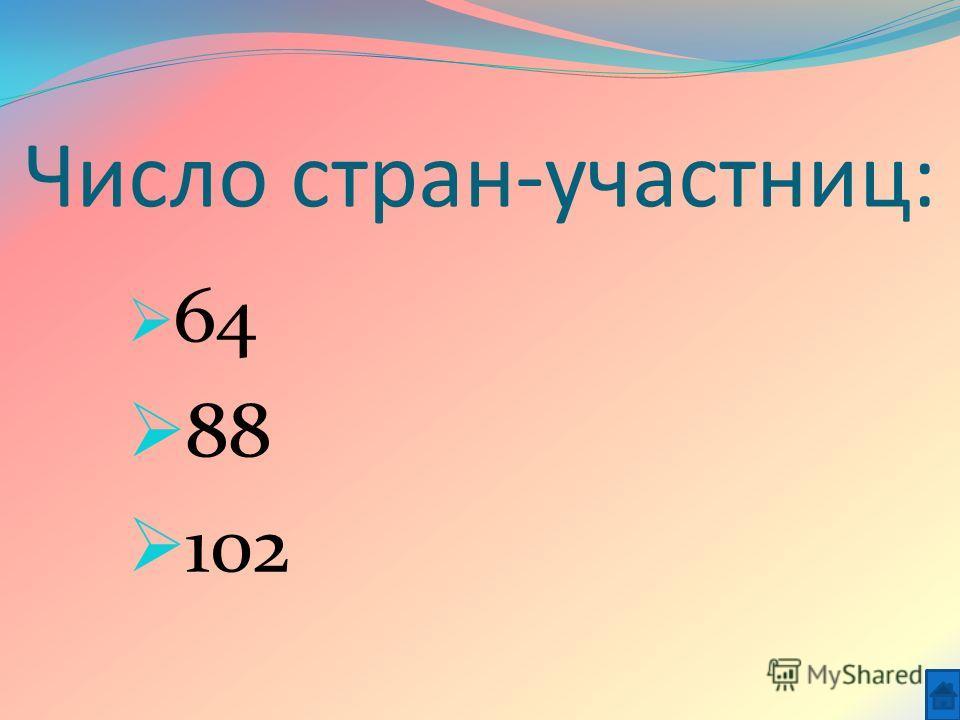 Число стран-участниц: 64 88 102
