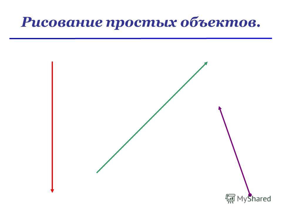 Рисование простых объектов.