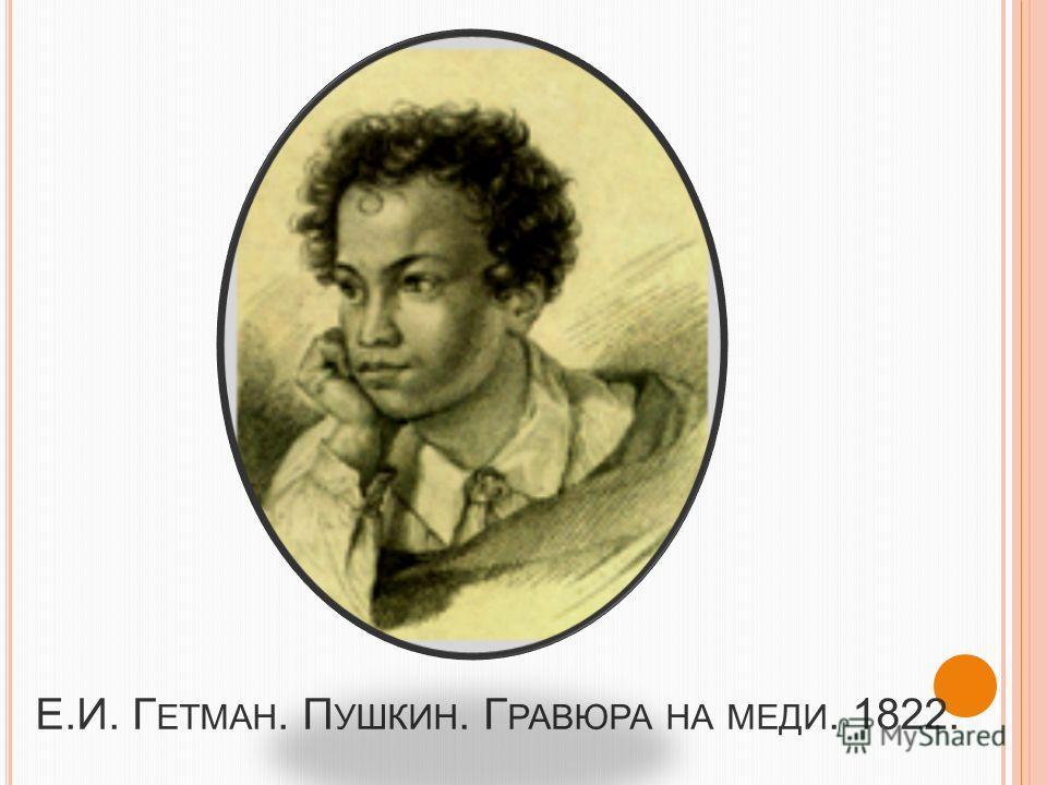 П ОРТРЕТЫ ( Г АЛЕРЕЯ ) C. Г. Чириков. Пушкин в юности