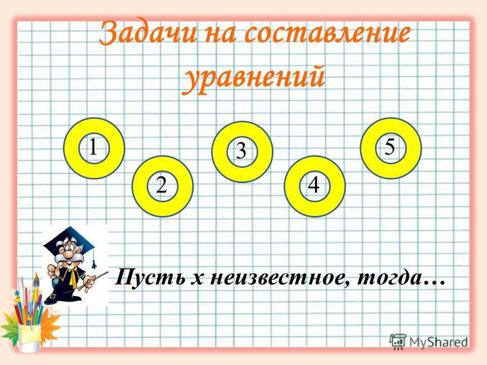 Задачи на составление уравнений Пусть х неизвестное, тогда… 15 3 24