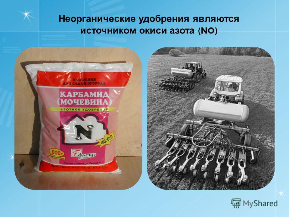Неорганические удобрения являются источником окиси азота (NO)
