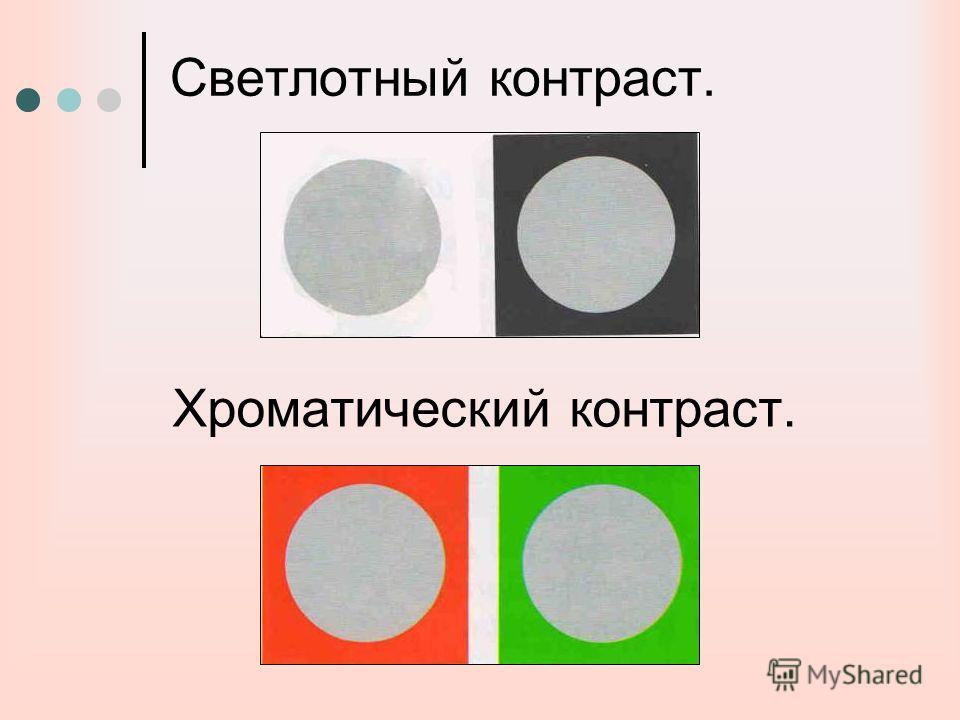 Светлотный контраст. Хроматический контраст.