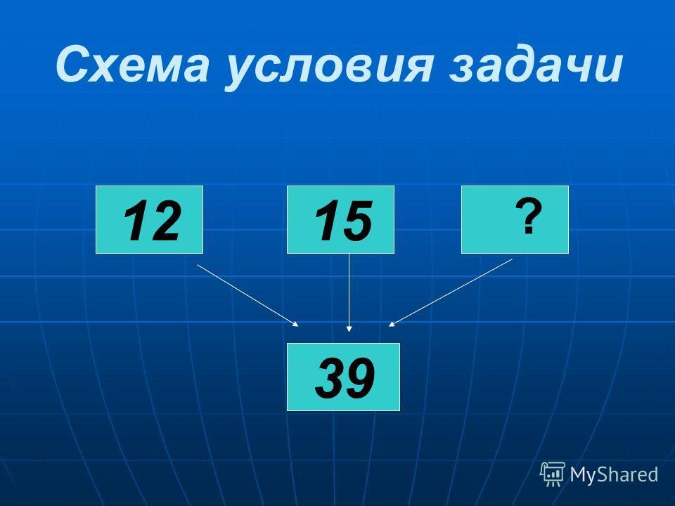 Схема условия задачи 12 39 15 ?