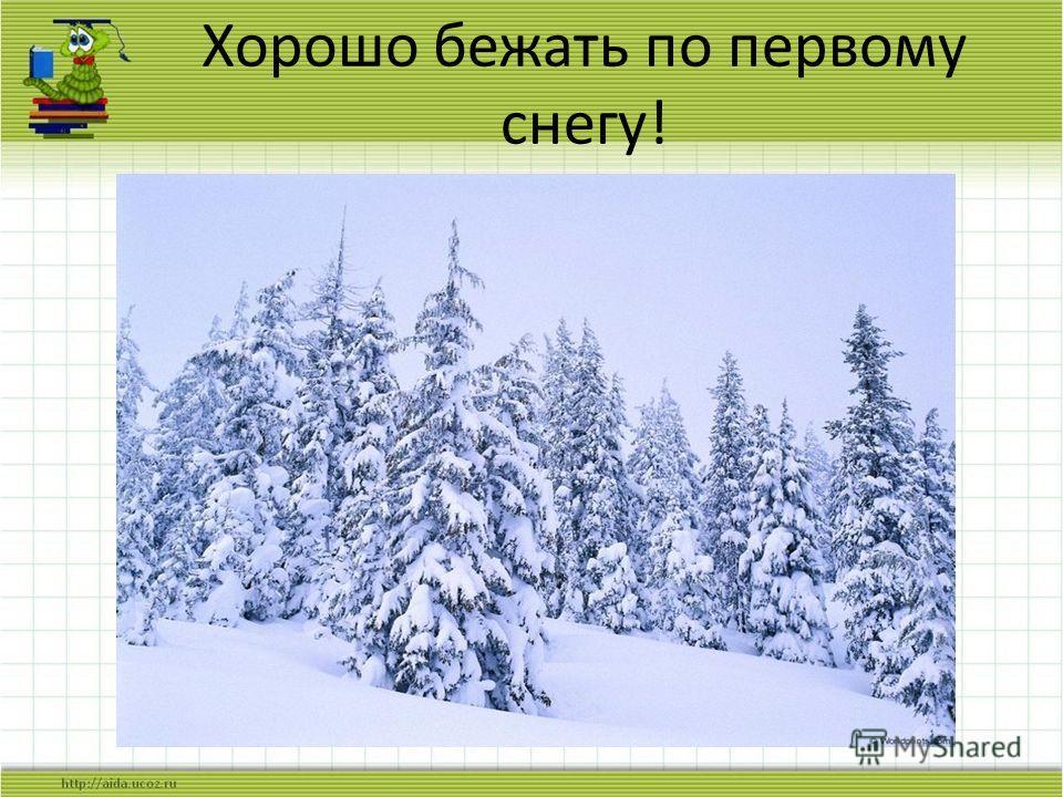 Хорошо бежать по первому снегу!