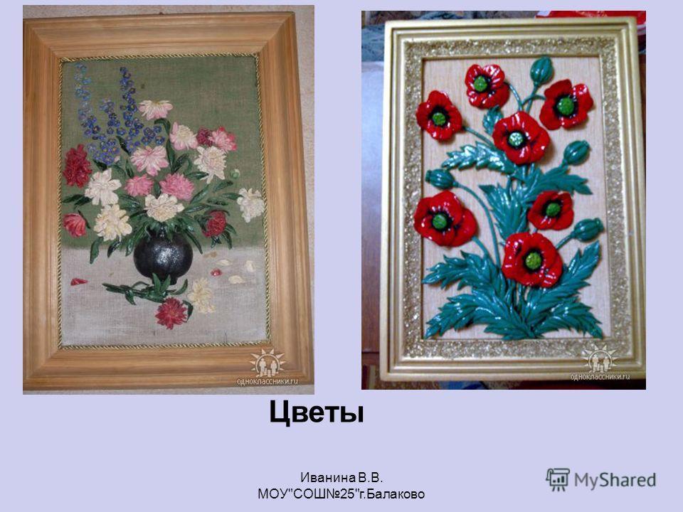 Цветы Иванина В.В. МОУСОШ25г.Балаково
