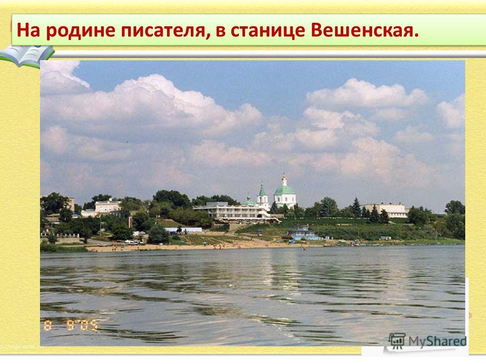 На родине писателя, в станице Вешенская.
