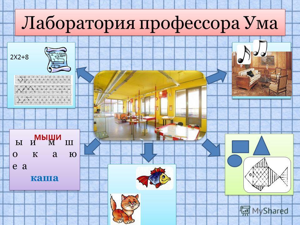 Лаборатория профессора Ума 2Х2+8 2Х2+8 ы и м ш о к а ю е а каша ы и м ш о к а ю е а каша МЫШИ