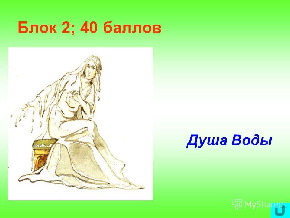 Блок 2; 40 баллов Душа Воды