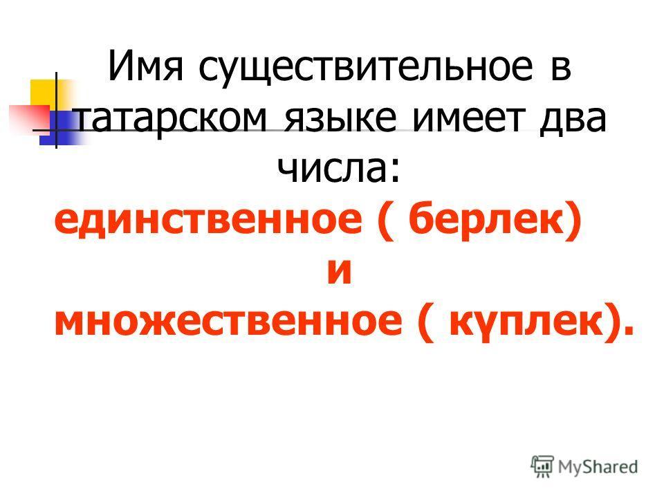 в татарском языке имеет