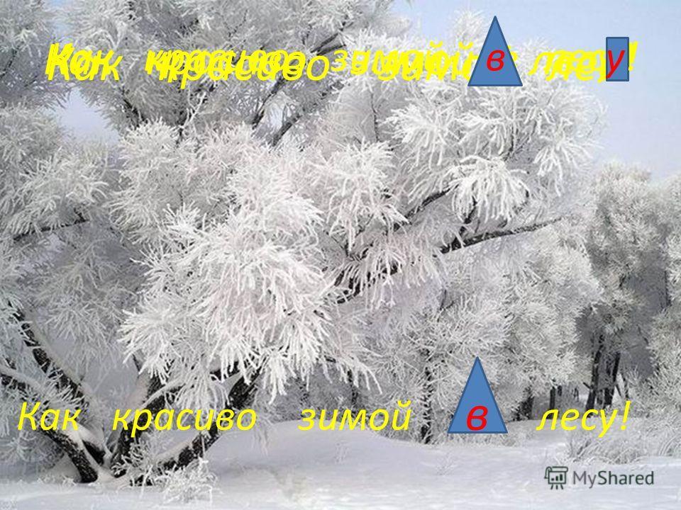 Как красиво зимой лес! Как красиво зимой в лесу! Как красиво зимой в лесу! Как красиво зимой на лесу! в