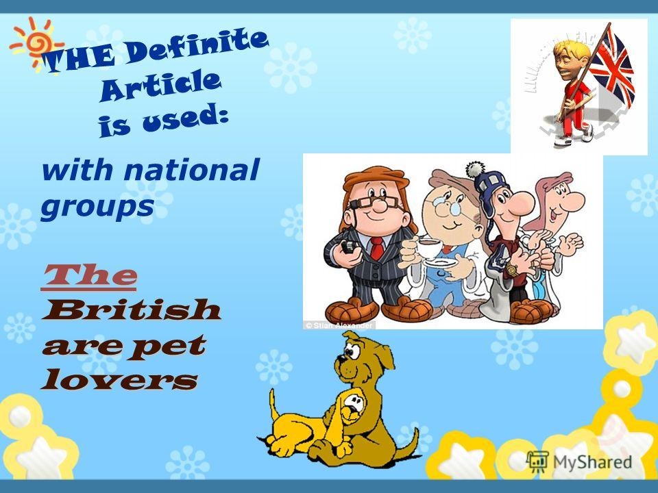 with national groups The British are pet lovers