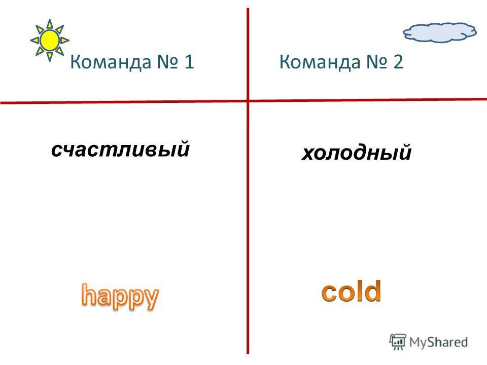 счастливый холодный Команда 1Команда 2