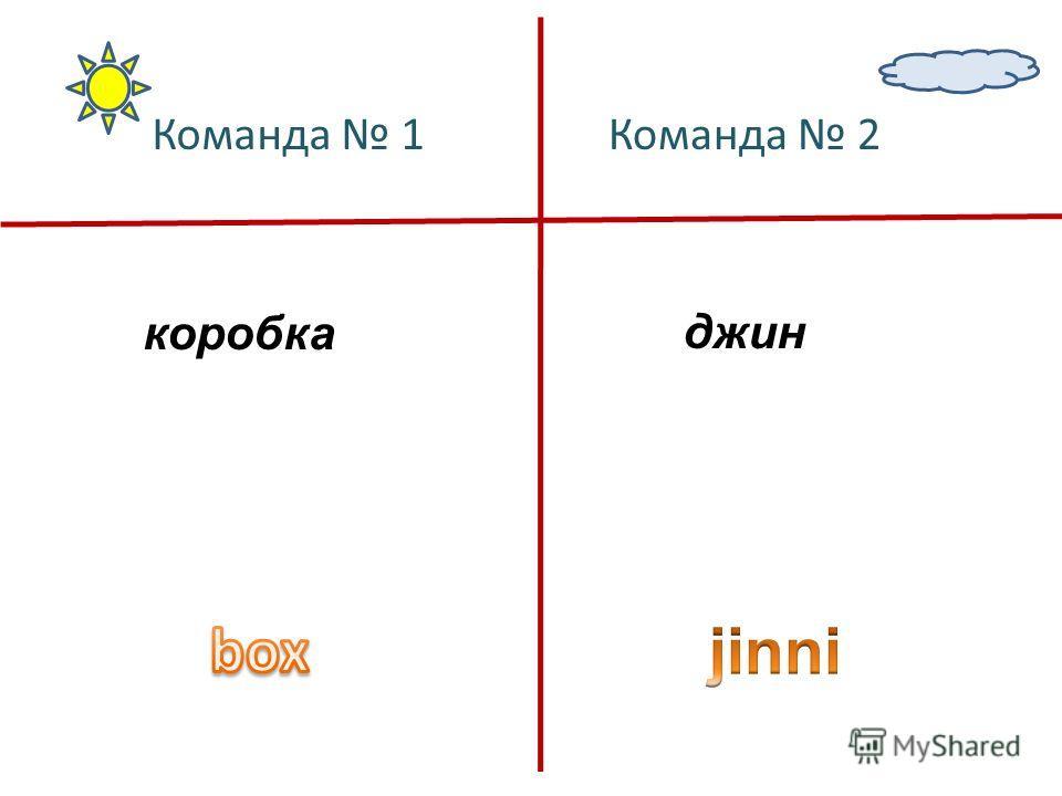 коробкаджин Команда 1Команда 2