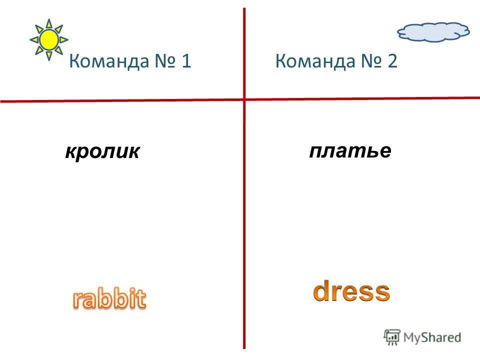 кроликплатье Команда 1Команда 2