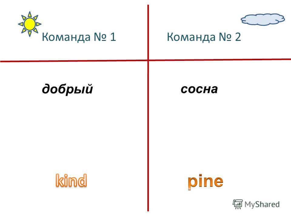 добрый сосна Команда 1Команда 2
