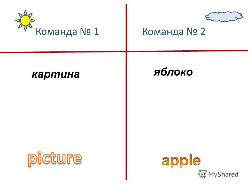 картина яблоко Команда 1Команда 2