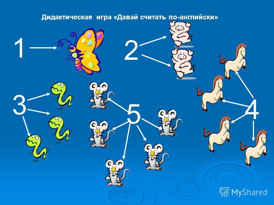 1 2 3 4 5 Дидактическая игра «Давай считать по-английски»
