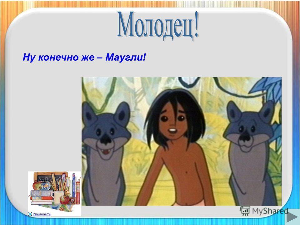 Ну конечно же – Маугли!