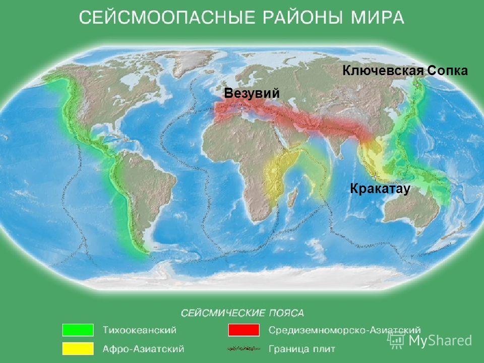 Везувий Кракатау Ключевская Сопка