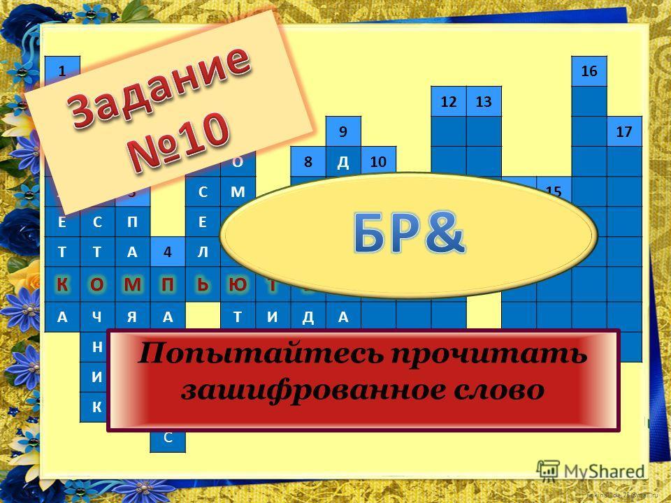FokinaLida.75@mail.ru 1516 ТП61213 АИК917 Б2КО8Д10 ЛИ3СМПЕ1415 ЕСПЕП7ЕН11 ТТА4ЛЬЭРД АЧЯАТИДА НТЛЕКАР ИЬТРАЧИ КУАЙ С Попытайтесь прочитать зашифрованное слово