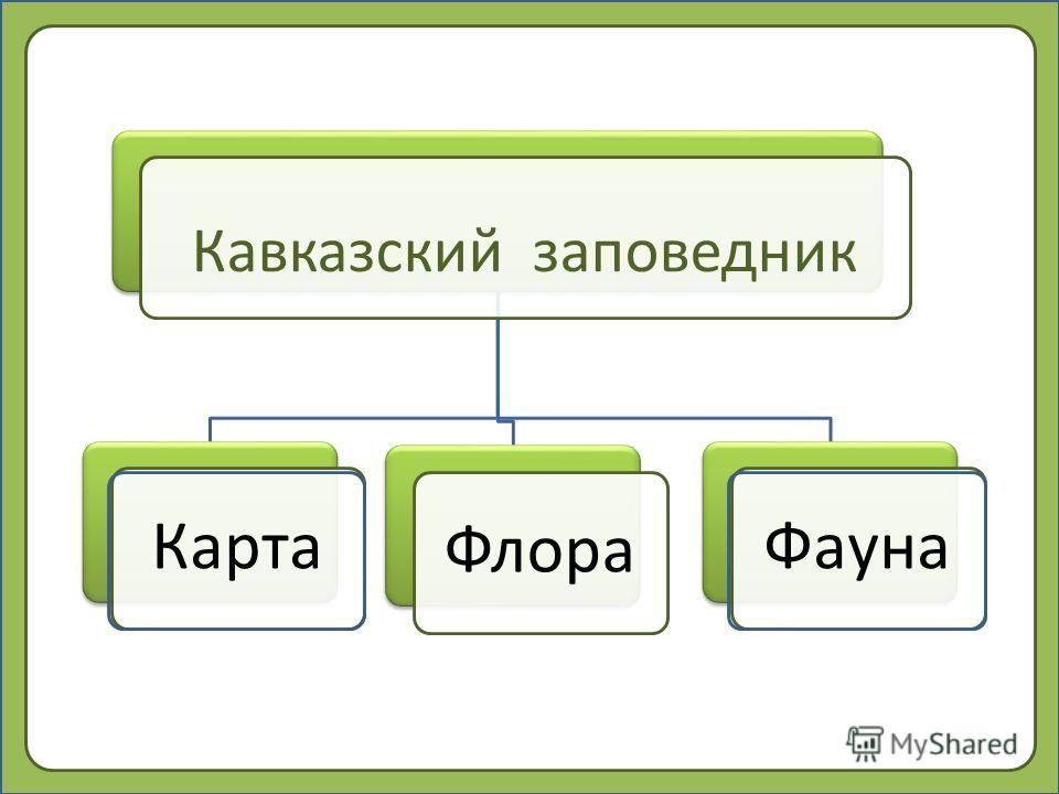 Кавказский заповедник Карта ФлораФауна