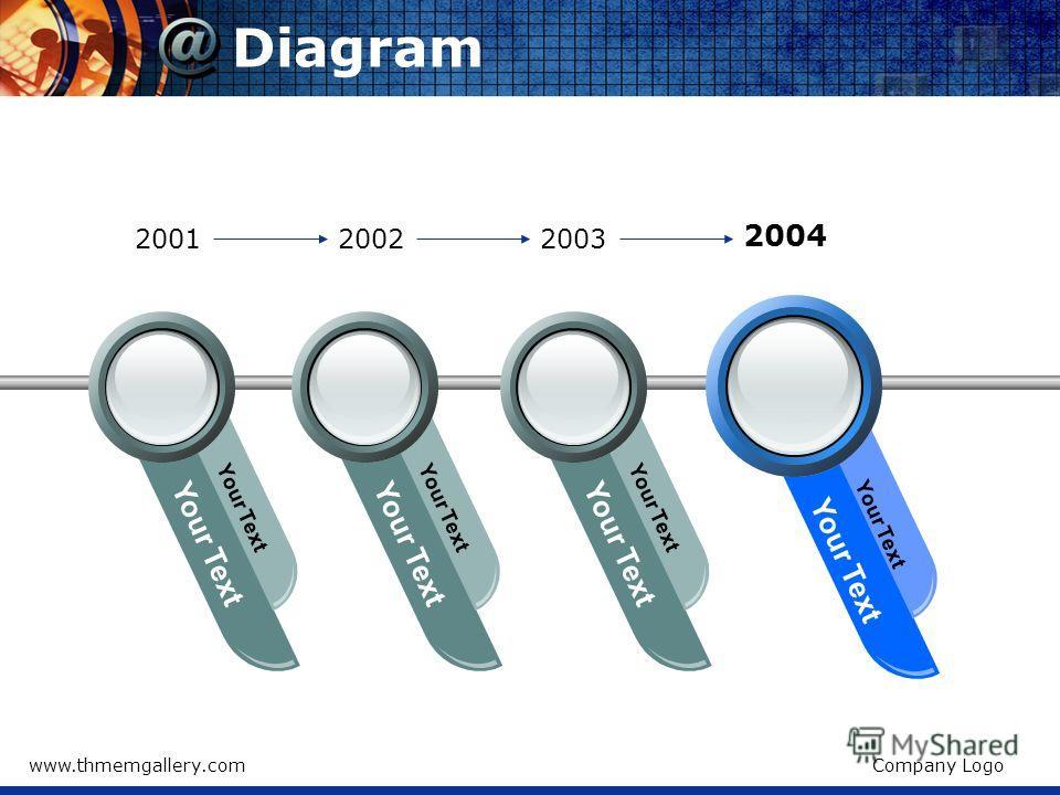 www.thmemgallery.comCompany Logo Diagram Your Text 200120022003 2004