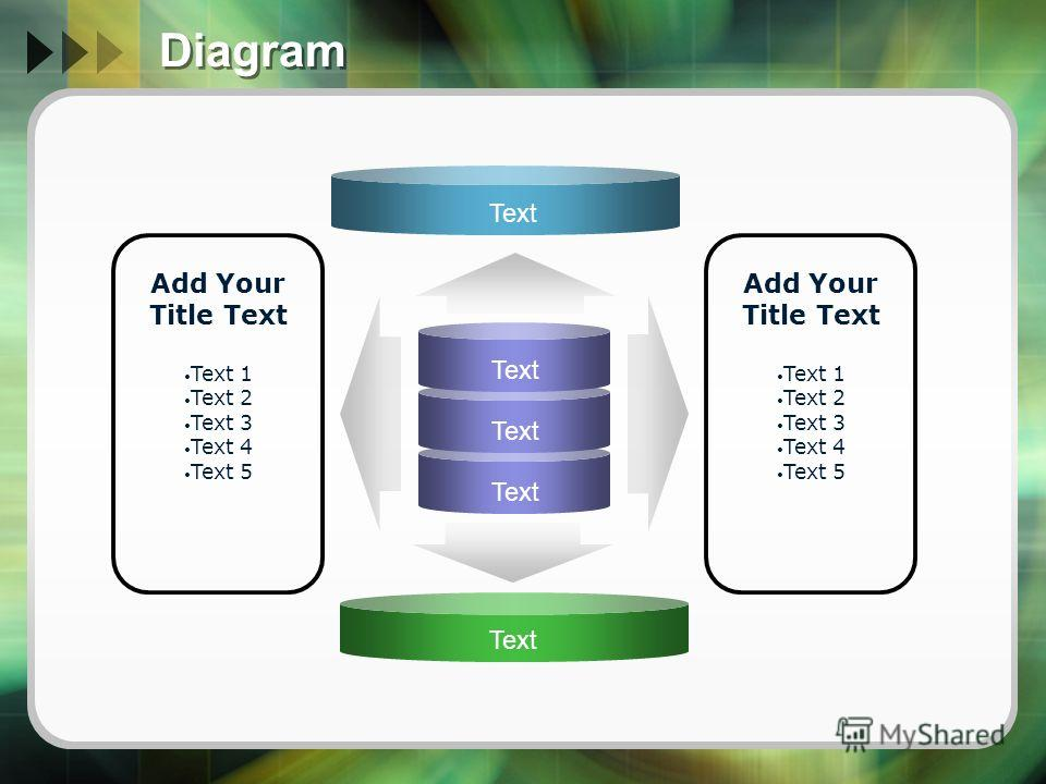 Diagram Text Add Your Title Text Text 1 Text 2 Text 3 Text 4 Text 5 Add Your Title Text Text 1 Text 2 Text 3 Text 4 Text 5 Text