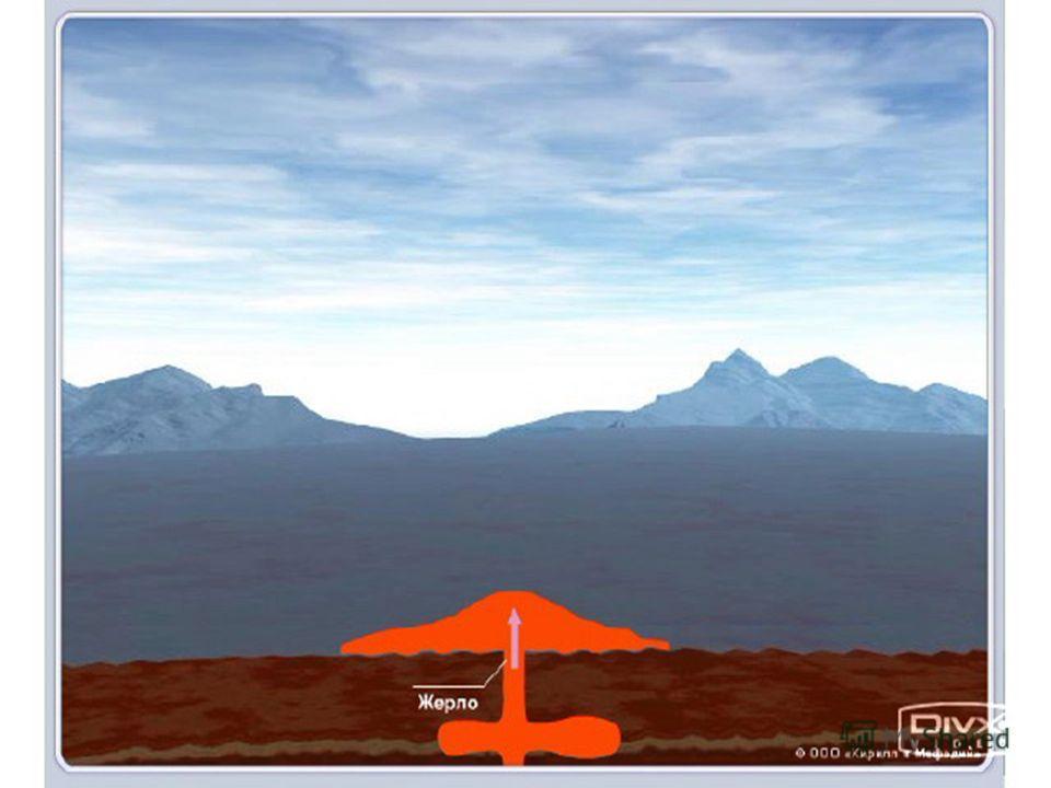 Выделение газов из более вязкой лавы сопровождается взрывами