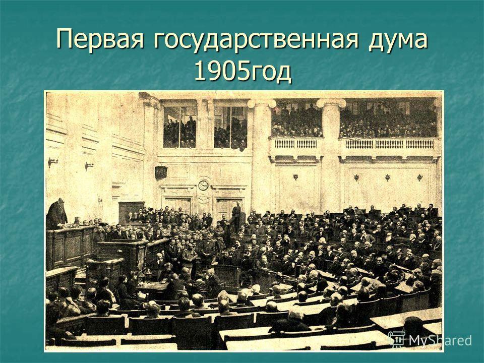 Первая государственная дума 1905 год