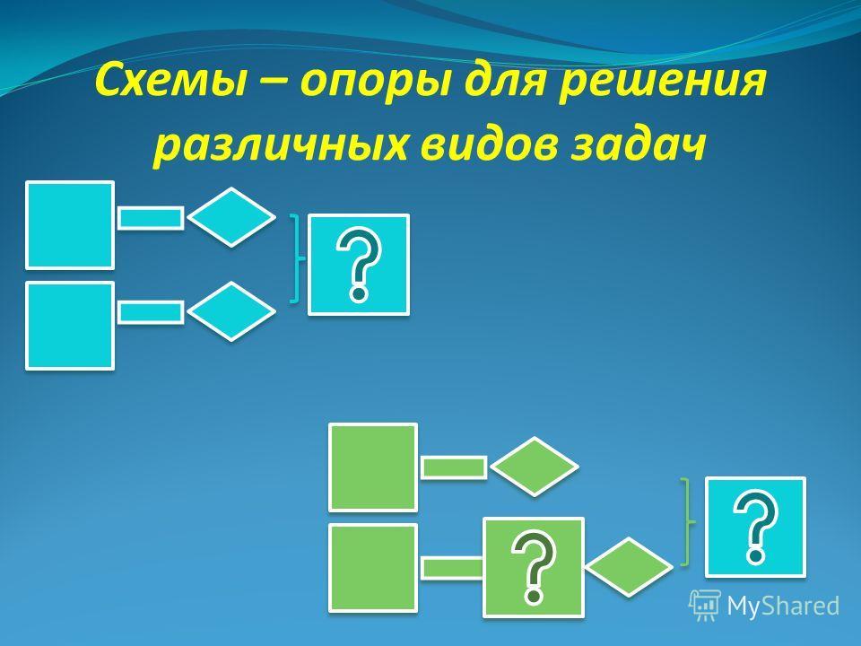 Схемы – опоры для решения различных видов задач