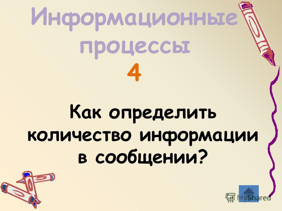 Информационные процессы 4 Как определить количество информации в сообщении?
