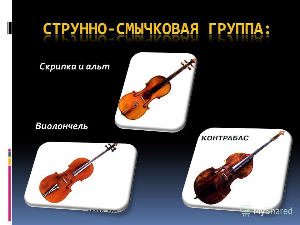Скрипка и альт Виолончель